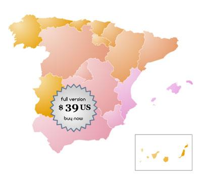 Spain Online Map Locator 1.0 Screenshot