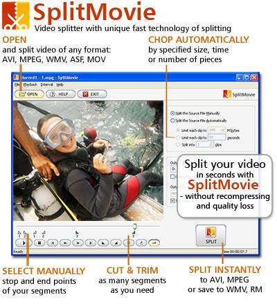 SplitMovie 2.1.10 Screenshot